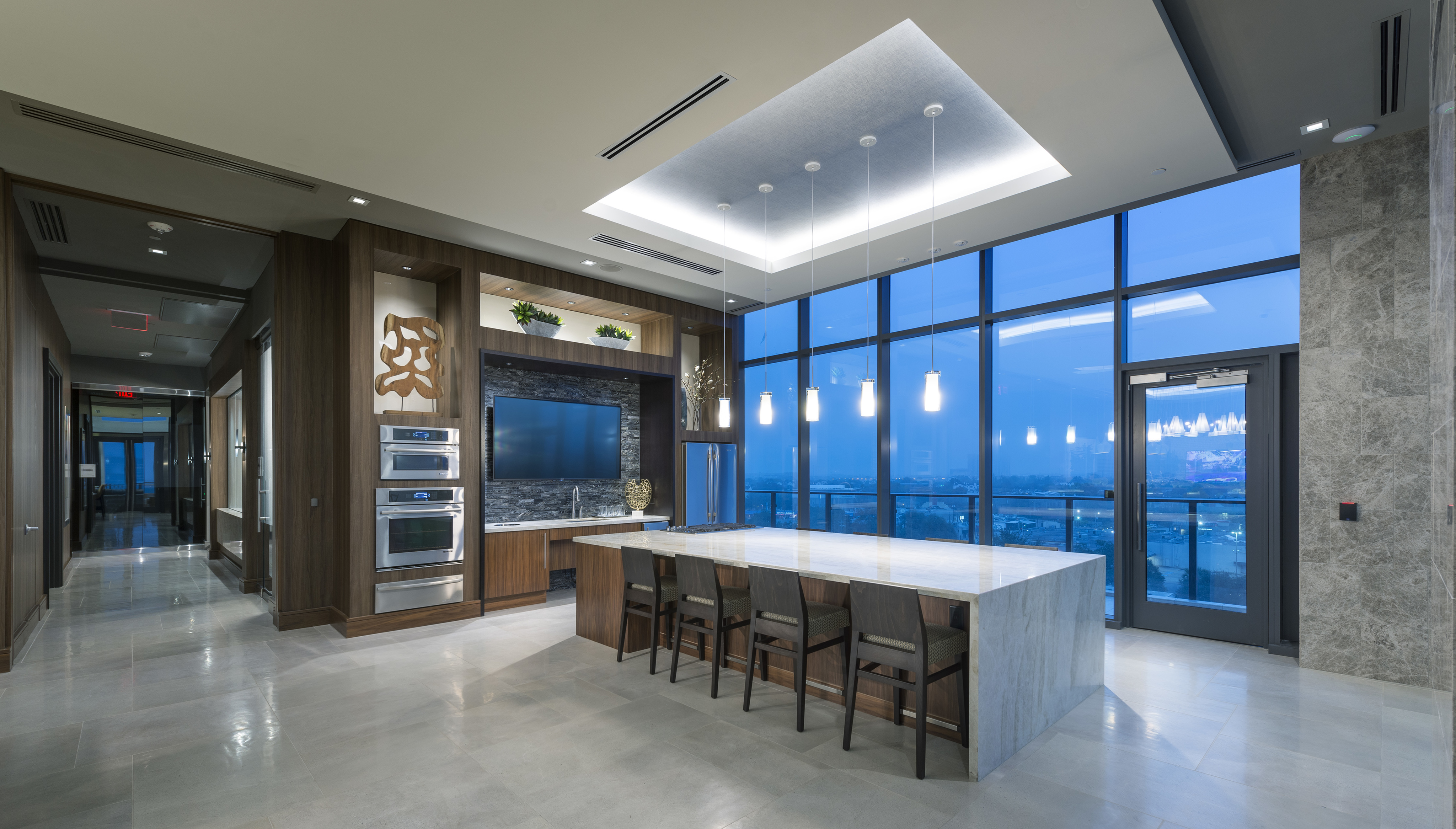 Resident Clubhouse with Catering Kitchen and Smart TV Lounge