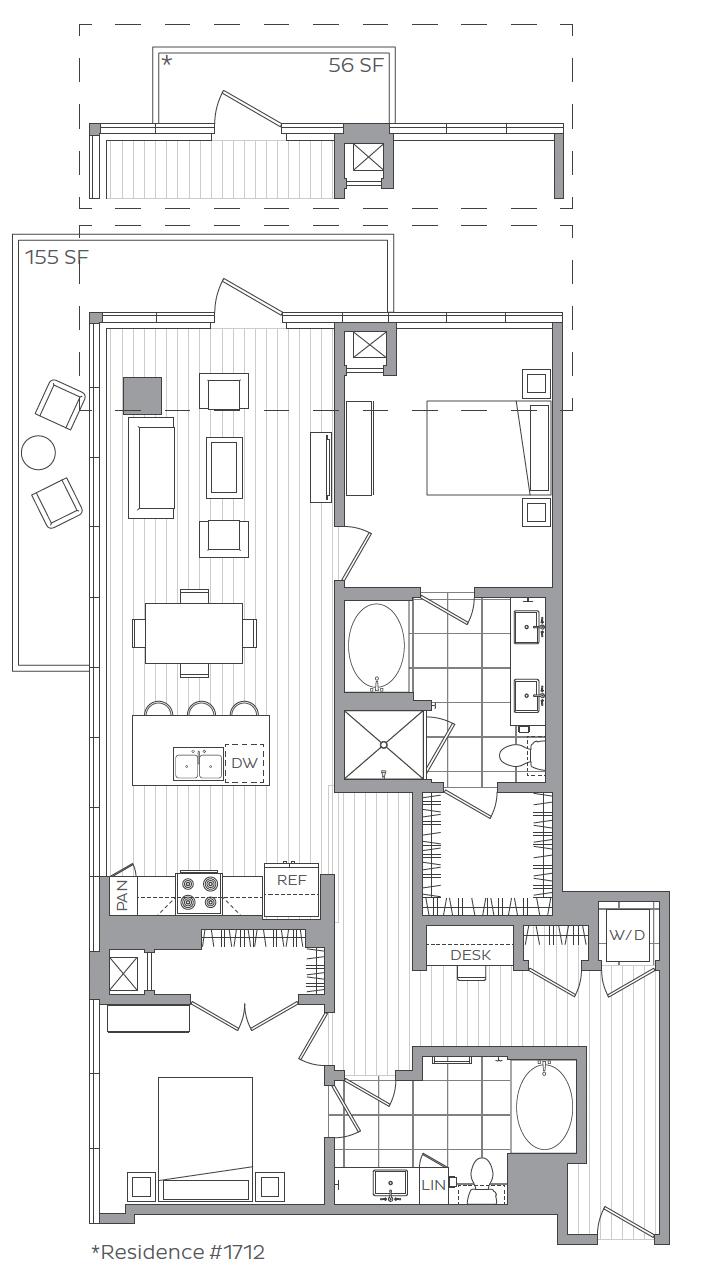 Y - 2 Bedroom  / 2 Bath