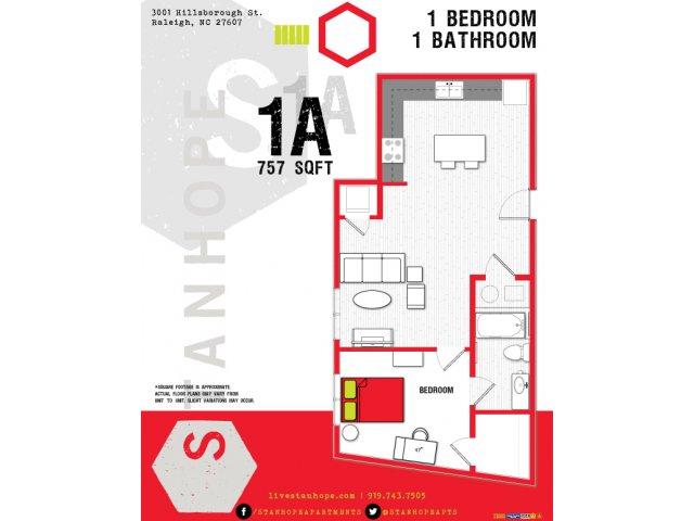 Stanhope | 1A Floor Plan