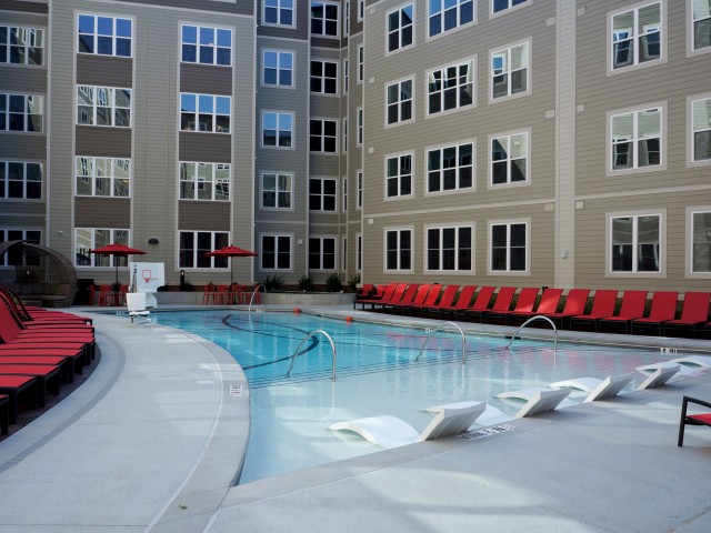 Image of Oasis Saltwater Pool with Splash Deck for Stanhope 2013 LLC