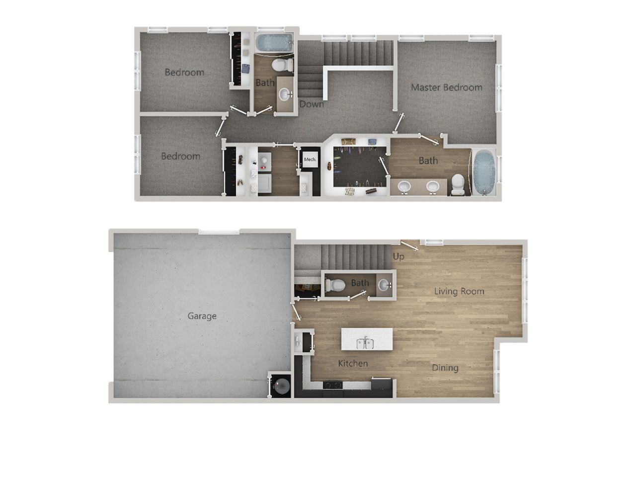 3x2.5 Townhome