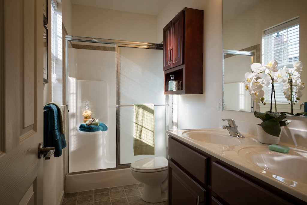 Image of Double Bowl Vanities for Meridian West Shore