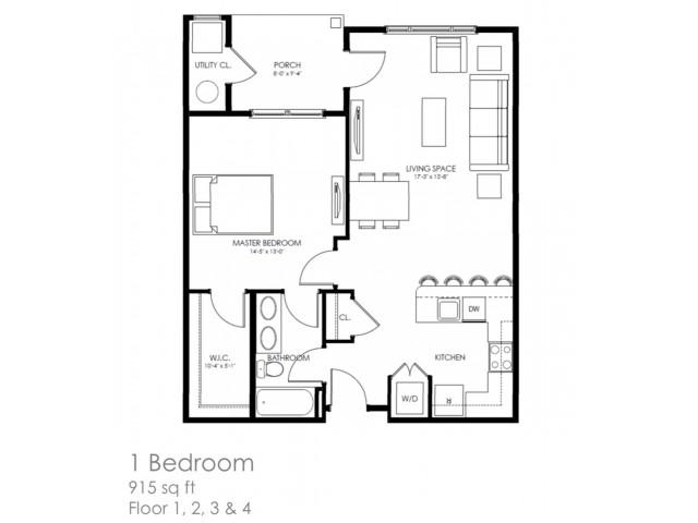 1 Bed 1 Bath Apartment In Claymont De