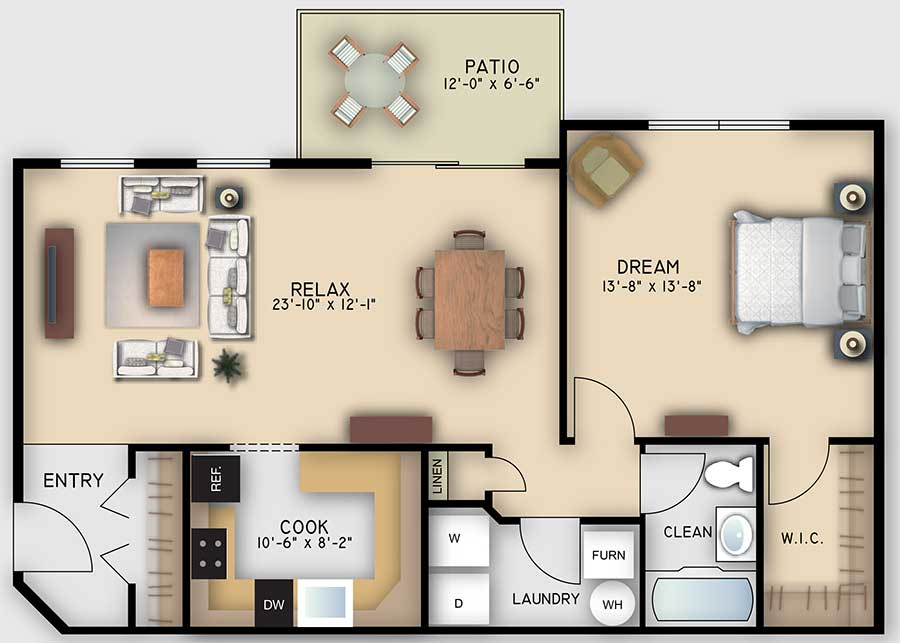 Retreat 1 Bedroom
