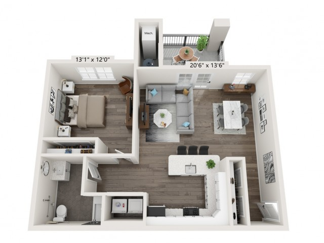 The Reserve on East 1 Bedroom