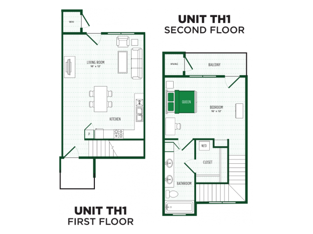 1x1 Townhome