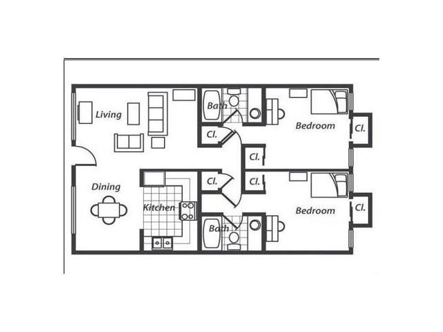 2x2 flat