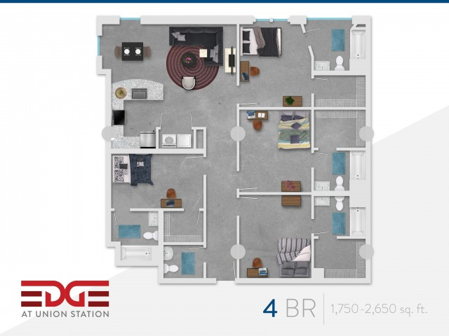 4 Bedroom Unit