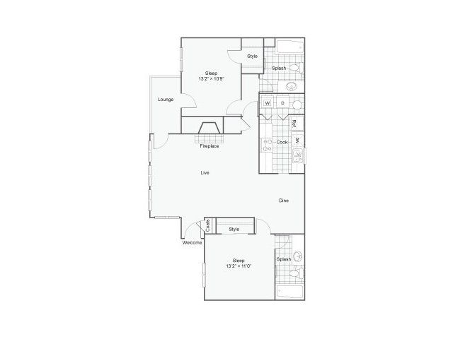The Addison at Sandy Springs Apartments For Rent Sandy Springs GA 30350 Floor Plan
