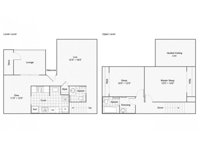The Taylor Apartment Homes Apartments For Rent Marietta GA 30008 Floor Plan