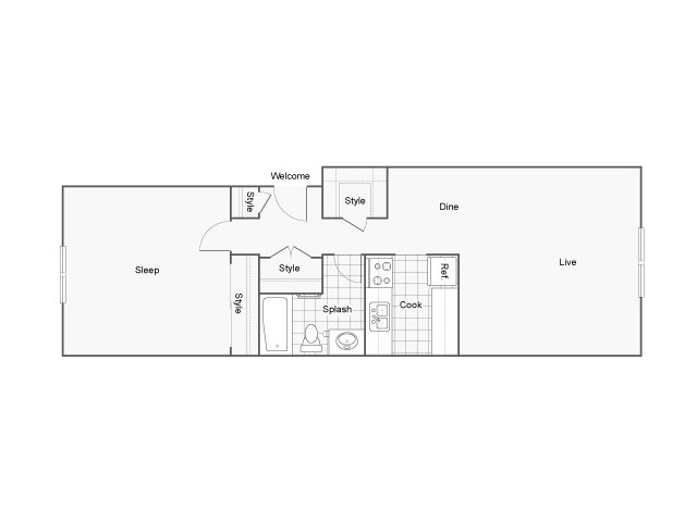 The Raleigh Apartments For Rent Burien WA 98146 Floor Plan