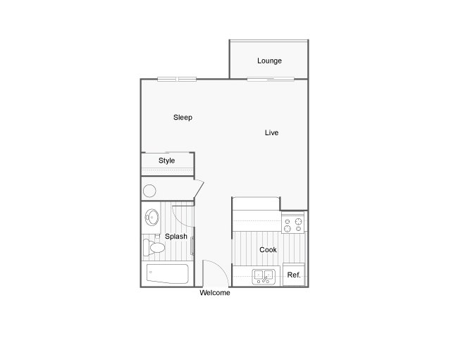 The Union Apartment Homes for Rent in Federal Way WA 98023 Floor Plan