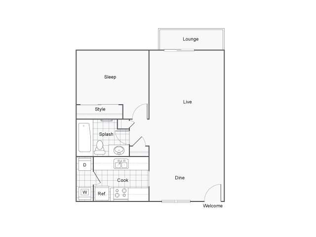 The Row Apartments For Rent Kent WA 98030 Floor Plan