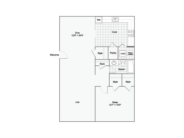 Floor Plan | Luxury Apartments Birmingham ALabama | The Kenzie Apartment Homes