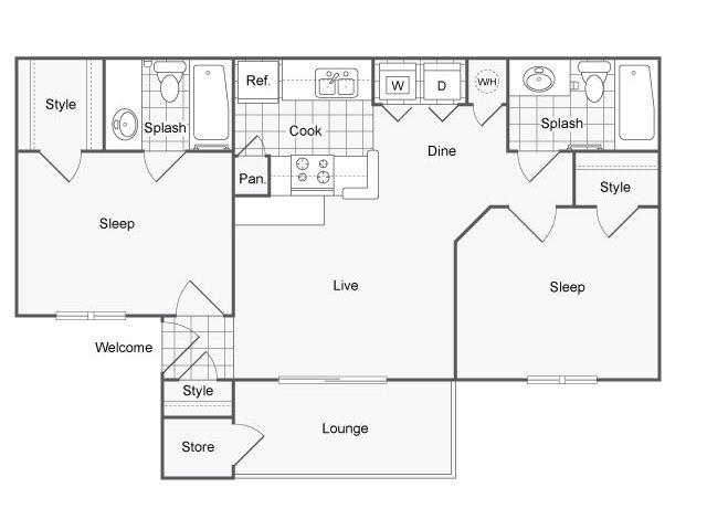 Floor Plan | The Parker
