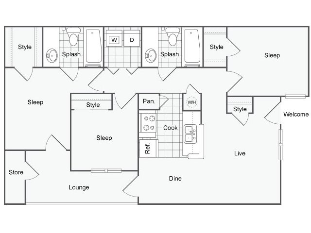 Floor Plan 2 | The Parker