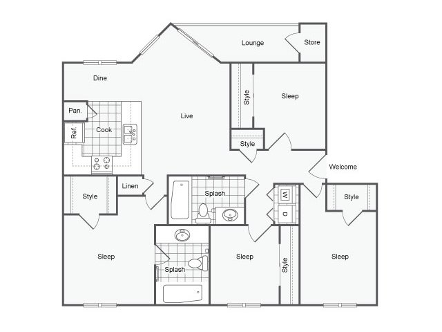 Floor Plan 3 | The Parker