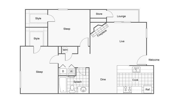Velo Apartments For Rent Denver CO 80227 Floor Plan