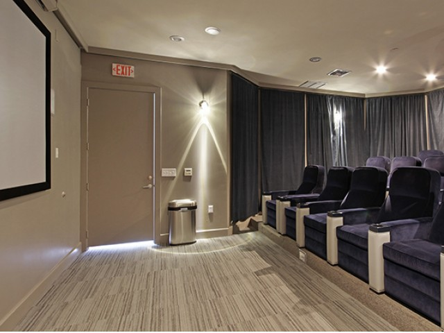 Image of Theatre Room with Stadium Seating for The Social at Auburn
