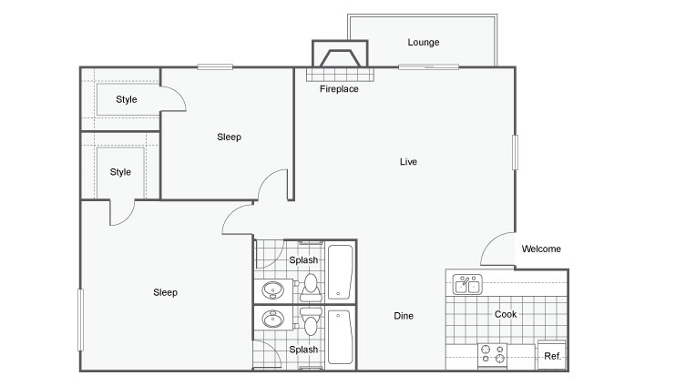 The Modern Apartment Homes Apartments For Rent Denver CO 80227 Floor Plan