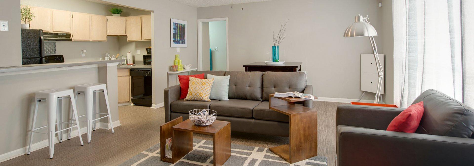 Elegant Living Room | 2 Bedroom Apartments In Auburn AL | The Hub at Auburn