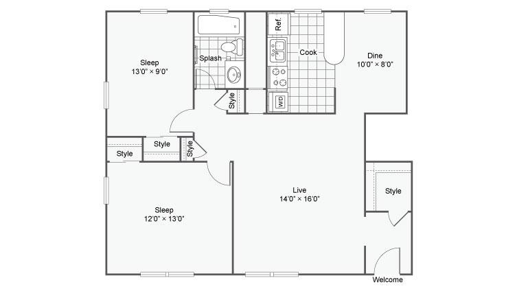 Alturas @ Burien Apartments For Rent Burien WA 98166 Floor Plan