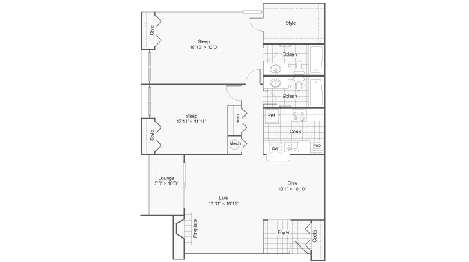 Floor Plan 4 | 100 Inverness