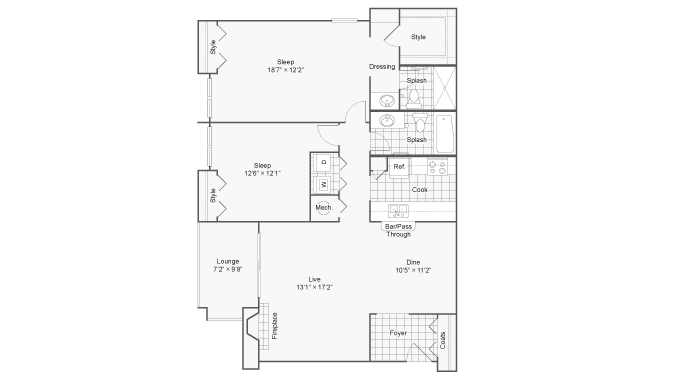 Floor Plan 5 | 100 Inverness