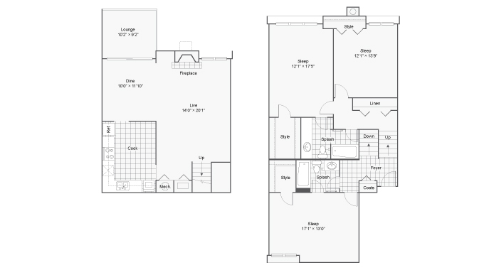 Floor Plan 9 | 100 Inverness