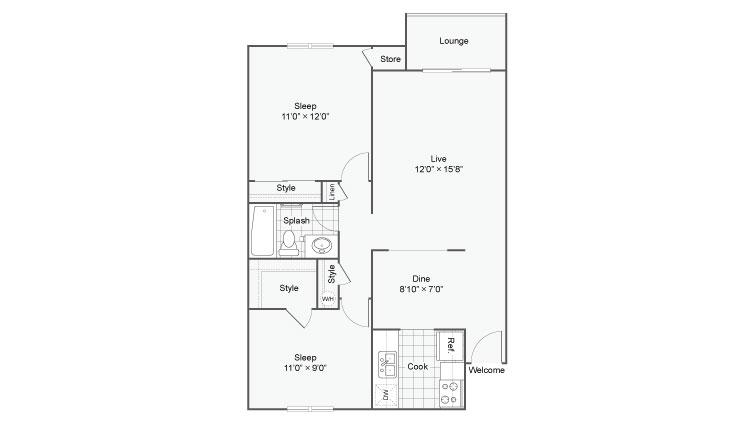 MIRO at Dash Point Apartments For Rent Federal Way WA 98023 Floor Plan