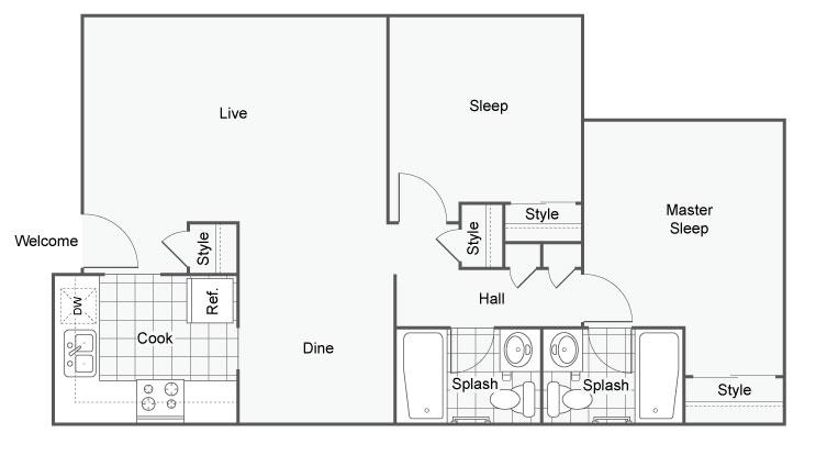 The Benton Apartment Homes Apartments For Rent Hoover AL 35216 Floor Plan