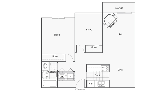 The BLVD Apartments For Rent Kent WA 98032 Floor Plan