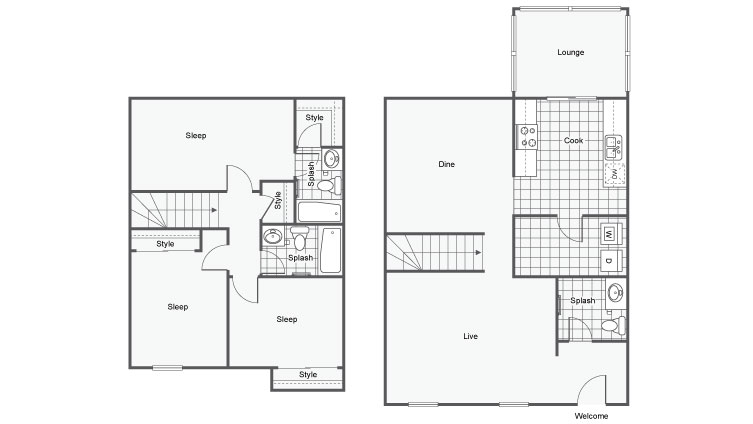 The Crawford at East Cobb Apartments For Rent Marietta GA 30062 Floor Plan