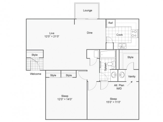 The Township Apartment Homes Apartments For Rent Kansas City MO 64155 Floor Plan