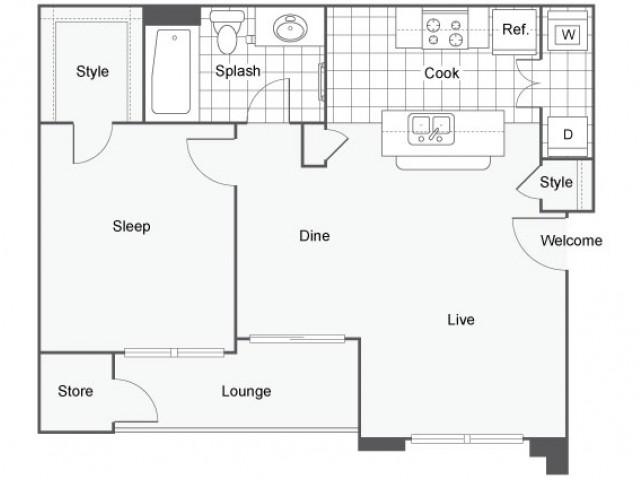 1 bed 1 bath apartment in oceanside ca capella at for Rimodernato ranch di entrata del ranch