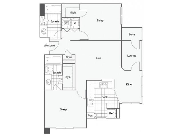 2 bed 2 bath apartment in oceanside ca capella at for Rimodernato ranch di entrata del ranch