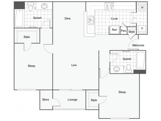 Oceanside apartment capella at rancho del oro luxury for Oceanside house plans