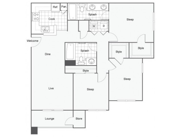 3 bed 2 bath apartment in oceanside ca capella at for Rimodernato ranch di entrata del ranch