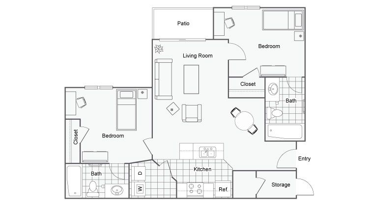 11 The Social at South Florida Apartments For Rent Lutz FL 33559 Floor Plan