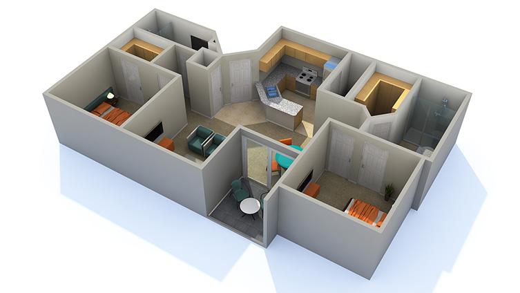 The Montana Apartment Homes Apartments For Rent Phoenix AZ 85042 Floor Plan