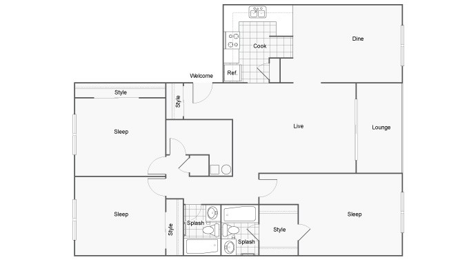 Floor Plan 26 | FSU Off Campus Housing | The Social at Tallahassee
