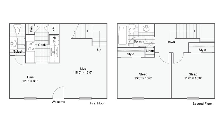 The Hub At Baton Rouge Apartment Homes Apartments For La 70808 Floor Plan