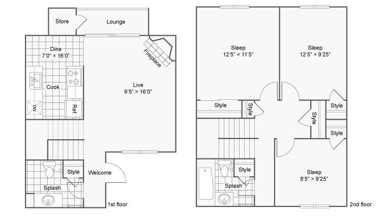 Astoria Apartment Homes Apartments For Rent Fife WA 98424 Floor Plan