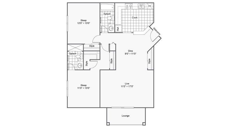 The Fitzgerald Apartment Homes Apartments For Rent Burnsville MN 55337 Floor Plan