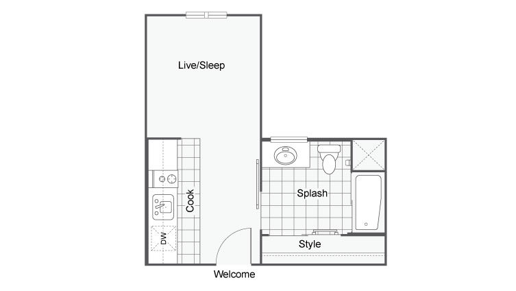 Unit 2b | Apartments For Rent In San Diego | The Studios