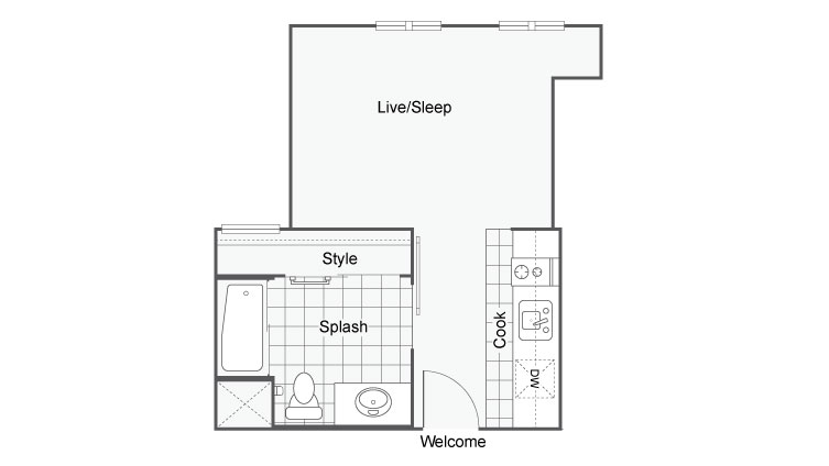 Unit 4b | Apartments For Rent In San Diego | The Studios