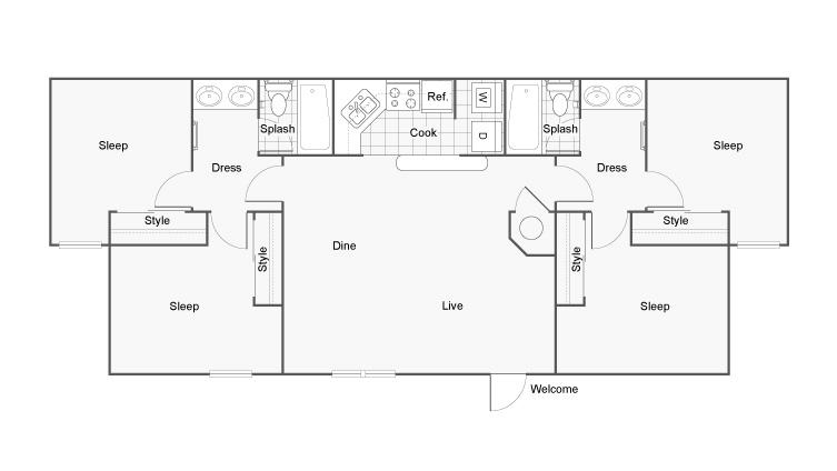 Floor Plan and Availability | The Hub at Auburn Apartment Homes ...