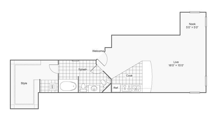Studio Floor Plan | Apartments In Eden Prairie MN | Arrive Eden Prairie
