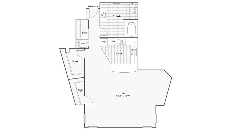Floor Plan 1 | Apartments Eden Prairie | Arrive Eden Prairie