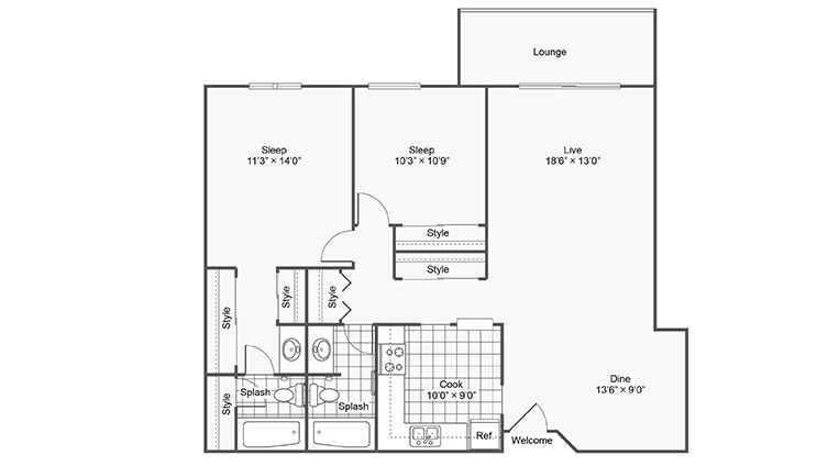 Floor Plan Images | Twelve501 Apartment Homes Apartments For Rent Burnsville MN 55337
